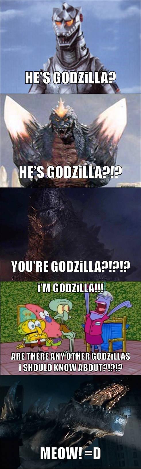 Godzilla, Mechagodzilla And SpaceGodzilla! (Funny)