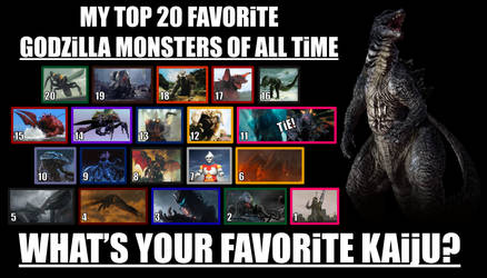 My Top 20 Favorite Godzilla Monsters of All Time