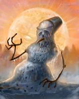 Dying snowman by gielczynski