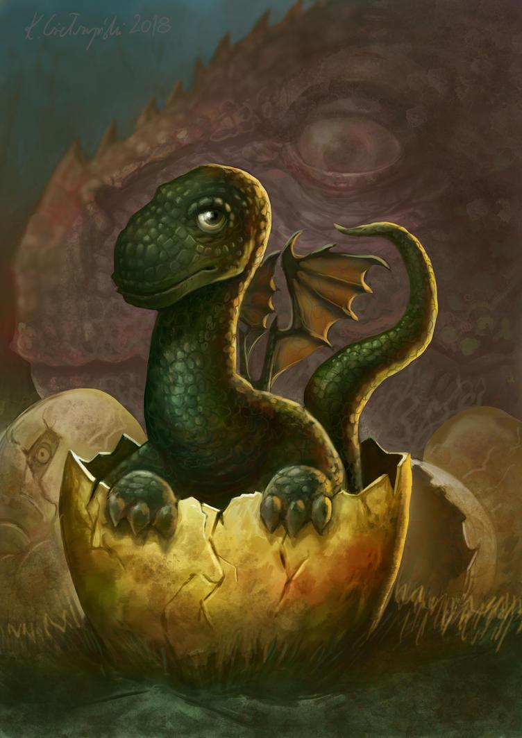 Baby Dragon by gielczynski