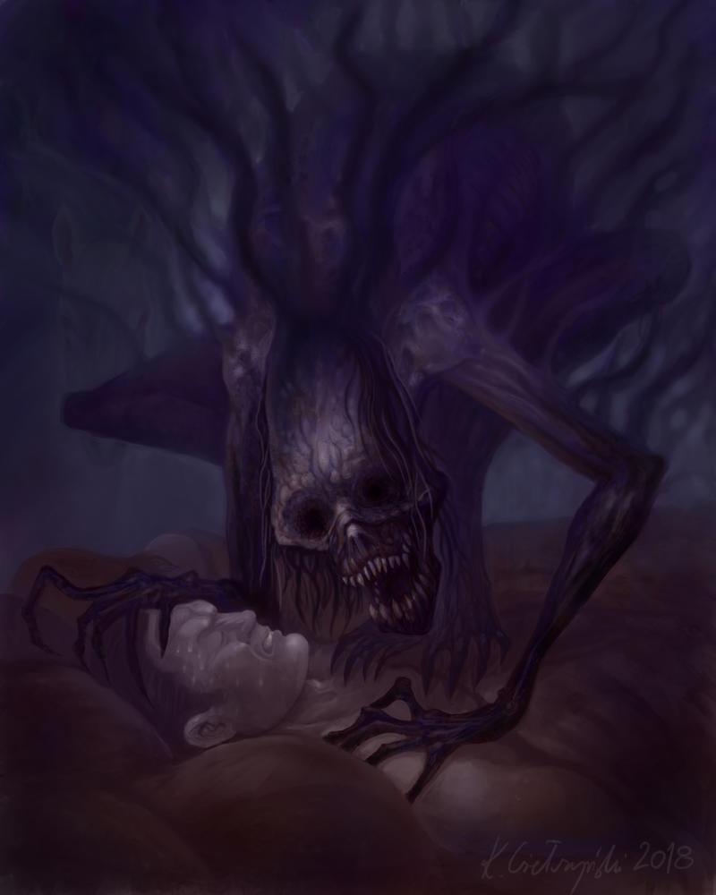Zmora (Nightmare) by gielczynski