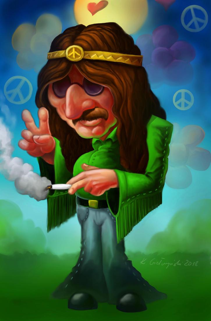 Hippie dude by gielczynski