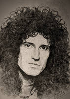Brian May (early years) by gielczynski