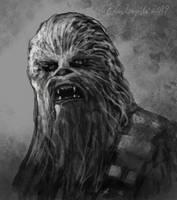 RIP Chewbacca by gielczynski