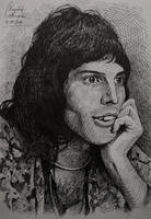 Young Freddie Mercury drawing by gielczynski