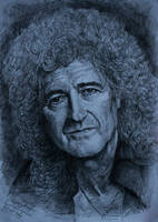 Brian May (pencil) by gielczynski