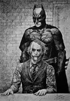Batman and Joker by gielczynski