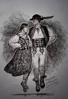 Highlanders dance by gielczynski
