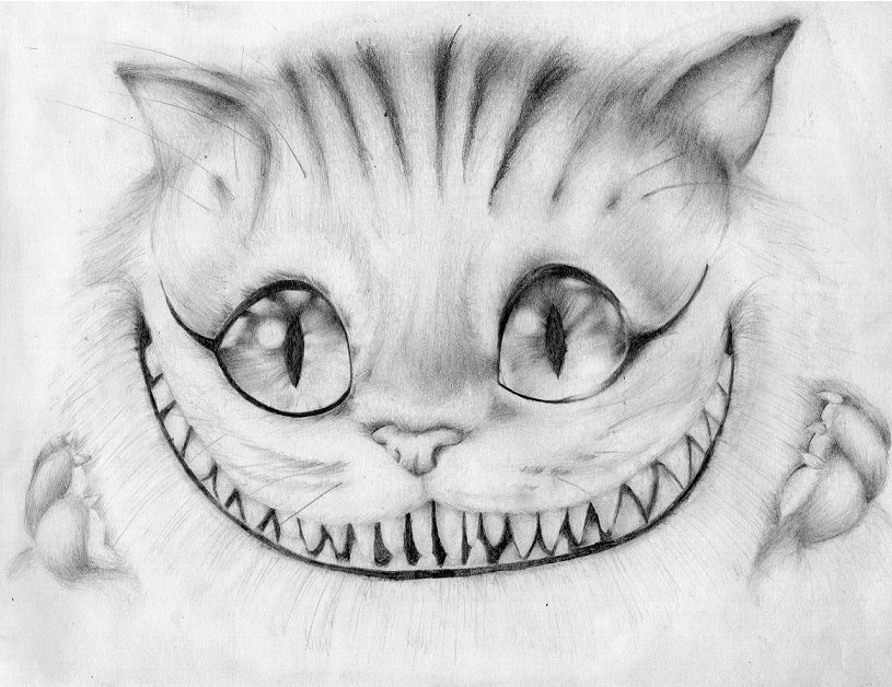 How To Draw The Cheshire Cat Face Step By Step