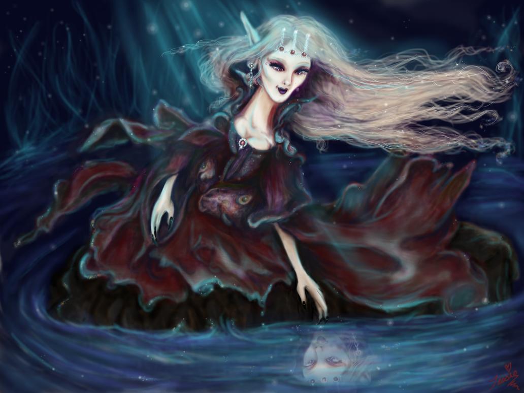 Princess Vampira's Reflection by tessieart333