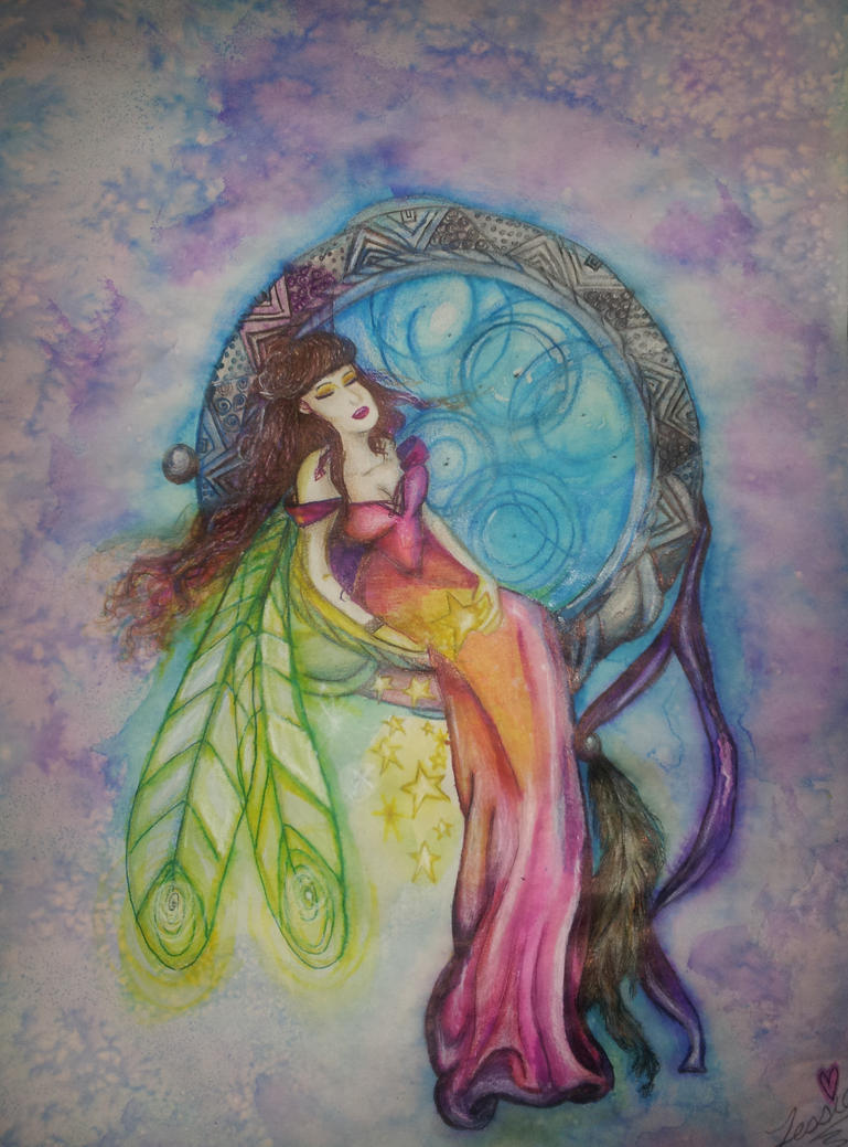 Fairy and the Dreamcatcher-tessieART Inc. by tessieart333