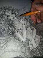 Drawing The Starbucks Mermaid~tessieART