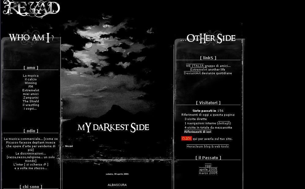 My blog interface
