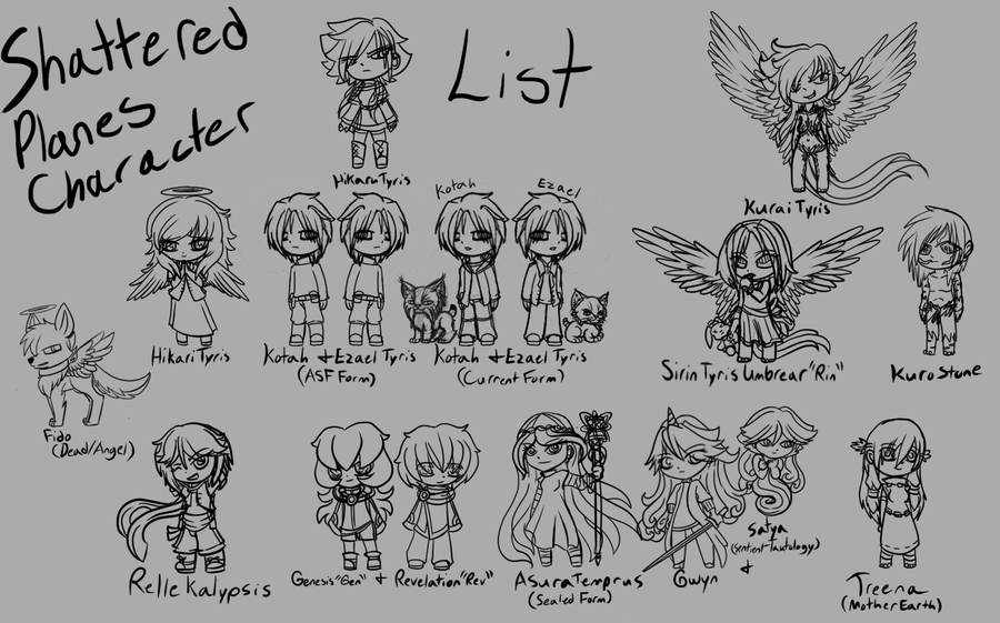 Shattered Planes Character Lineup Chibis by TheRebelPhoenix