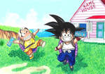Son Goku and Krillin - Milk Delivery!