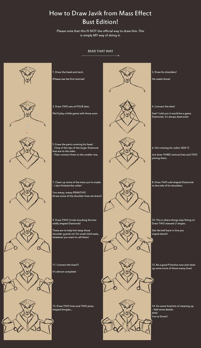 How to Draw Javik - Bust Edition by Kymiez