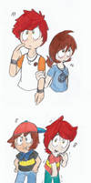 Kylexia, Ness, Lucas and Sam (south park au)