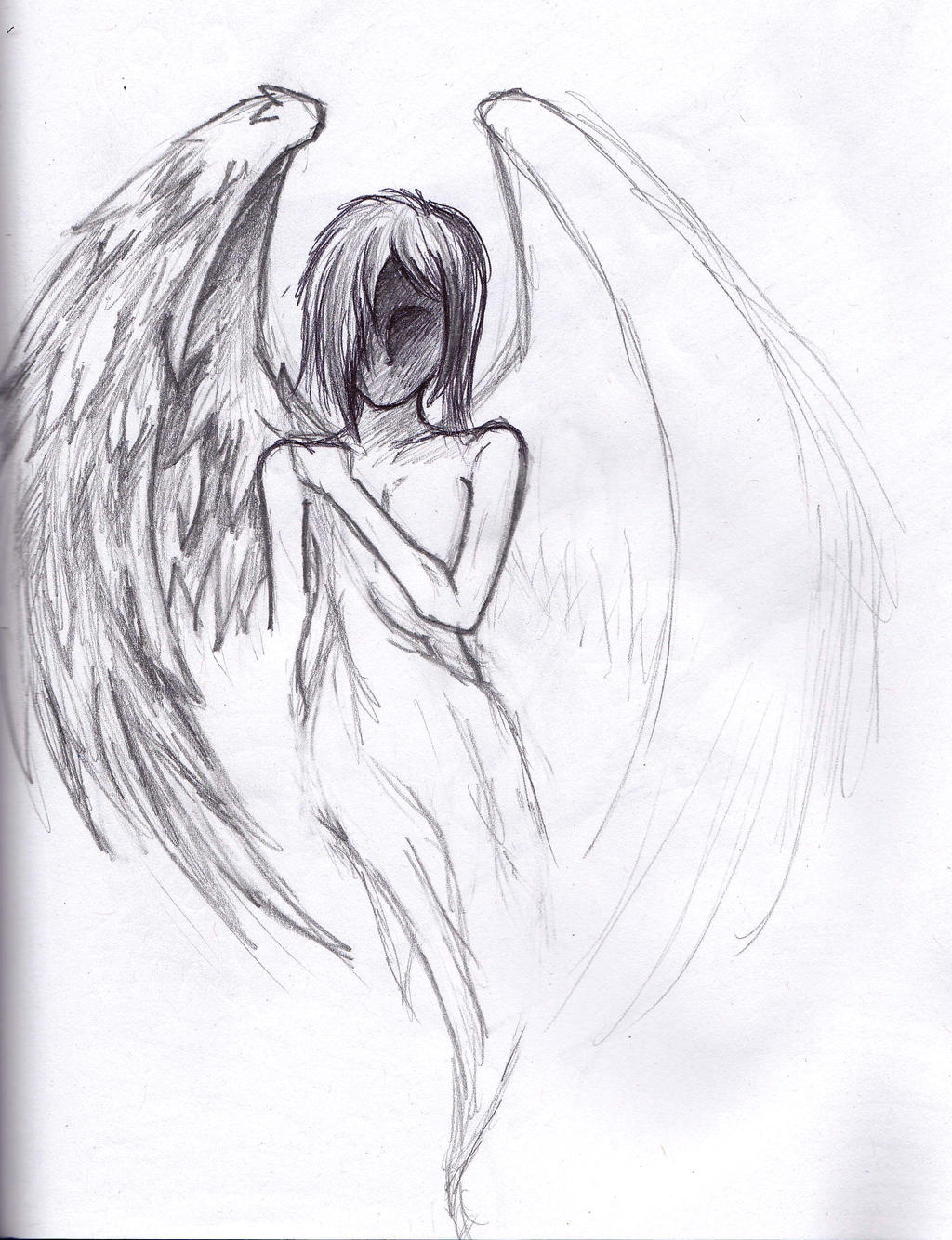depressed angel drawings - photo #3