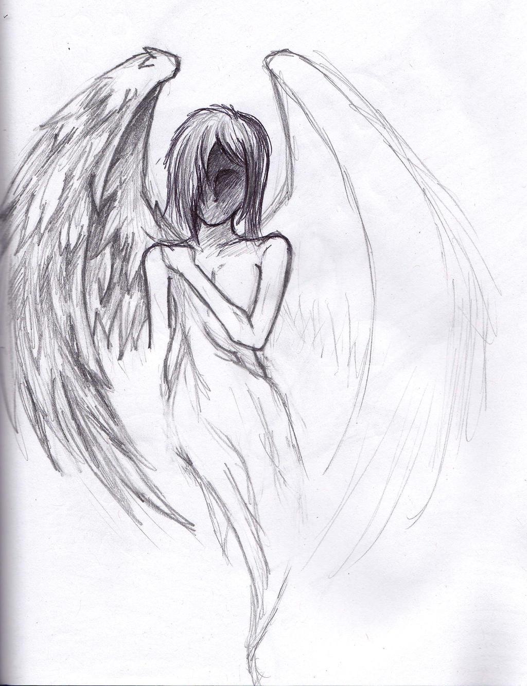 depressed angel drawings - photo #3