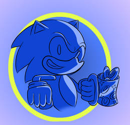 Sonic and the Cup of Rings by Paint-And-Colors