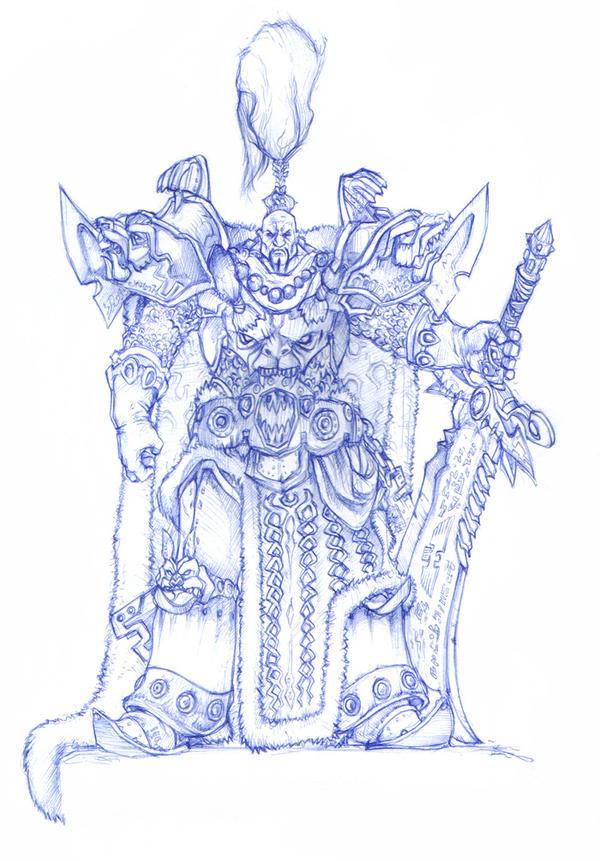 Jaghatai  Khan Primarch by moorkasaur