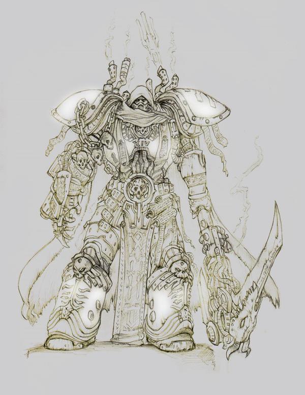 Primarch Mortarion by moorkasaur
