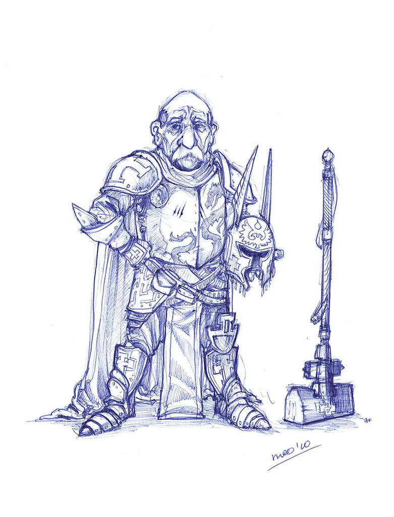 Halfling paladin :with hammer: by moorkasaur