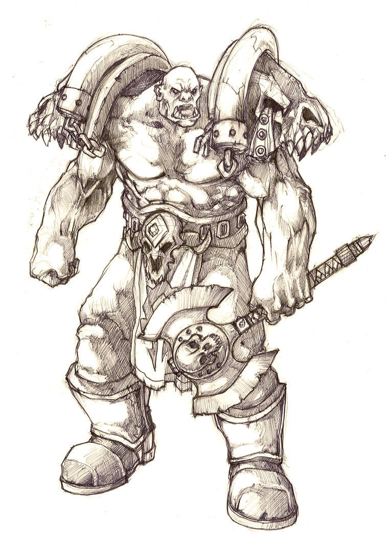 Garrosh Hellscream by moorkasaur