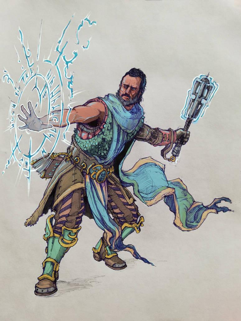 dnd cleric by moorkasaur