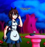 Comm: Aeron in Wonderland 01 by ViroVeteruscy