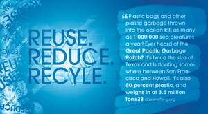 Reuse, Reduce, Recycle.