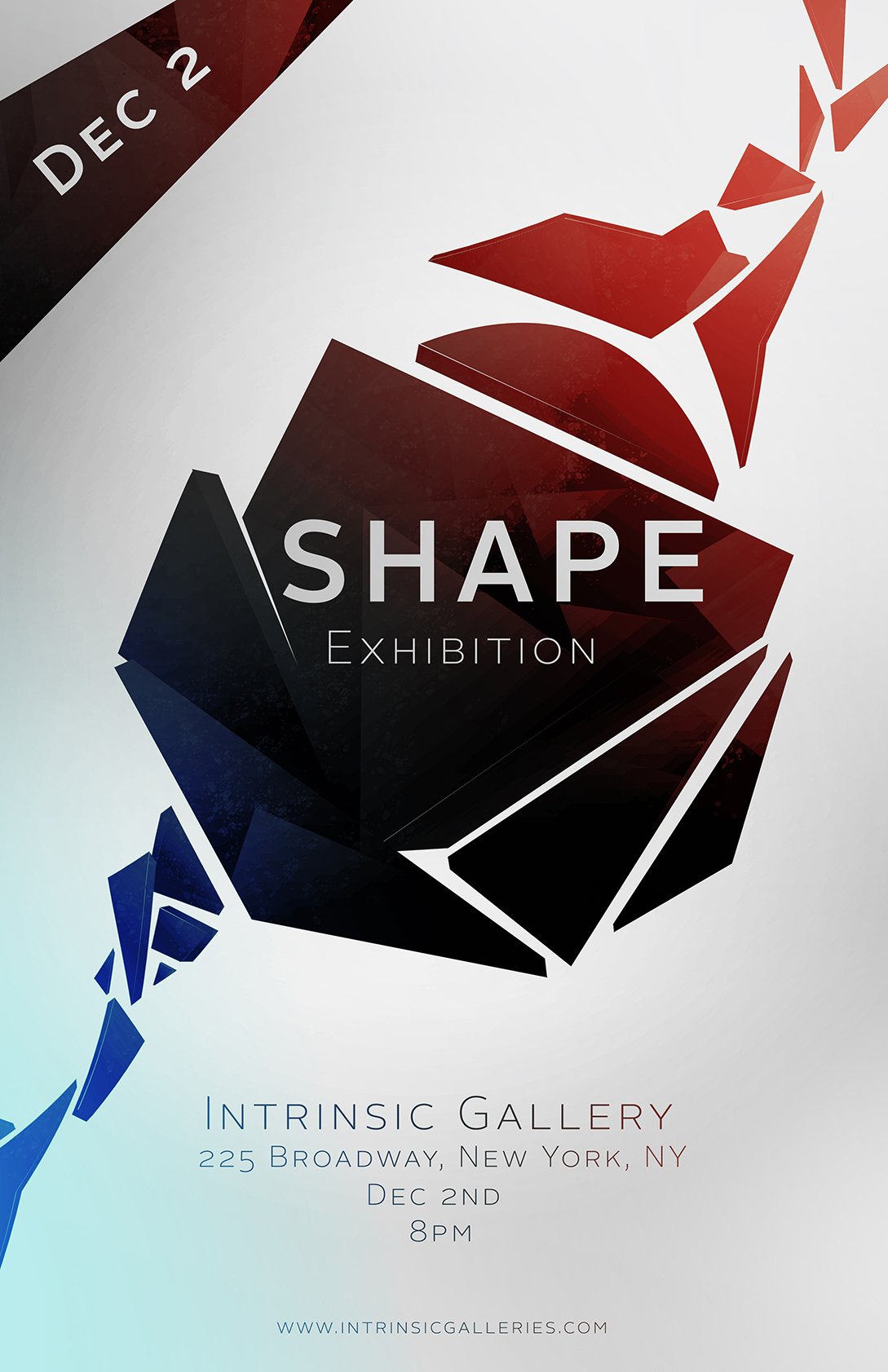Poster design challenge -  Scad Poster Challenge Entry Shape Exhibition By Shahakash