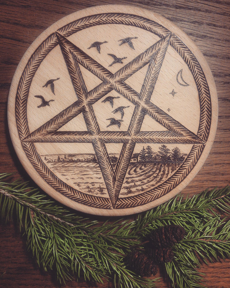 Solstice Pentacle by BrokenShell121