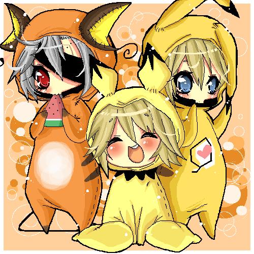 MGS: pichu,pikachu,raichu by ritsuneko69