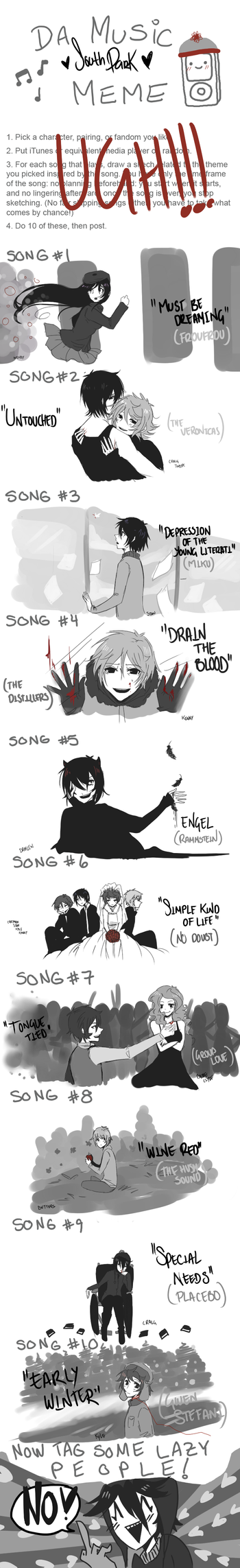 + music meme : south park + by ritsuneko69