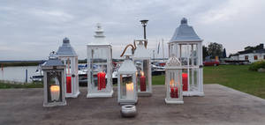 Lanterns at the Zingst Haven