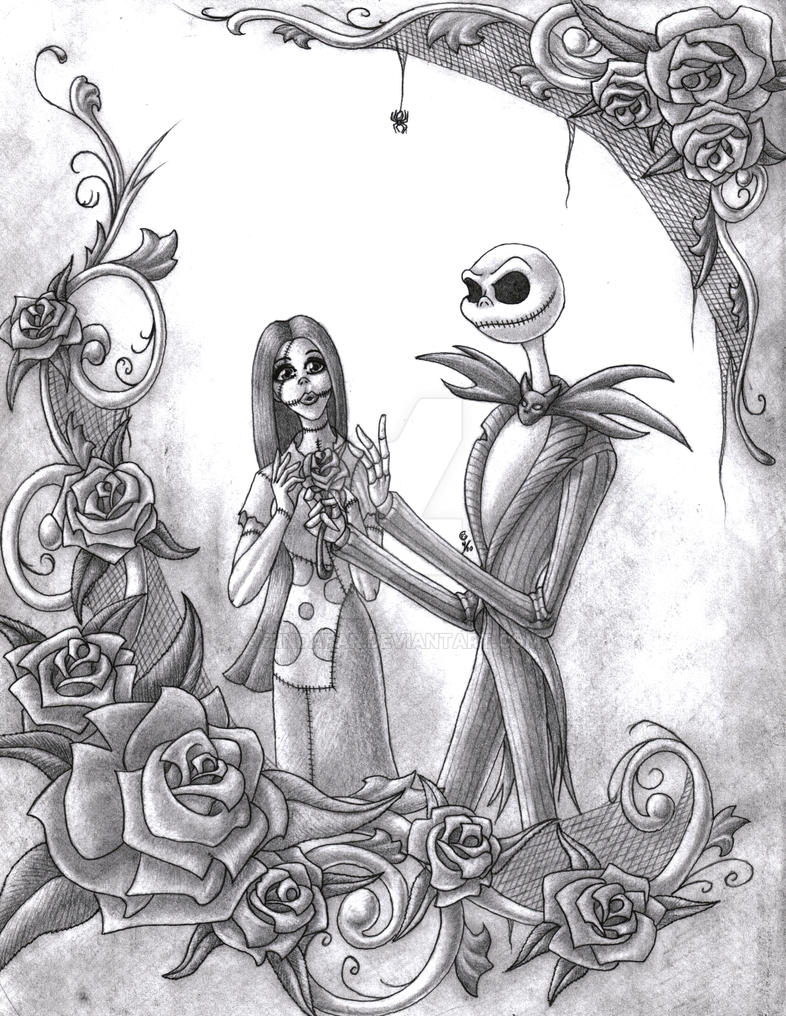 jack and sally and judy drawings