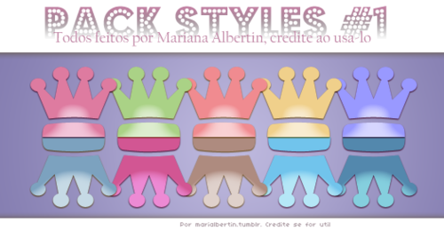 Pack Styles #1 by MariAlbertin
