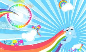 Rainbow Dash Filly Wall
