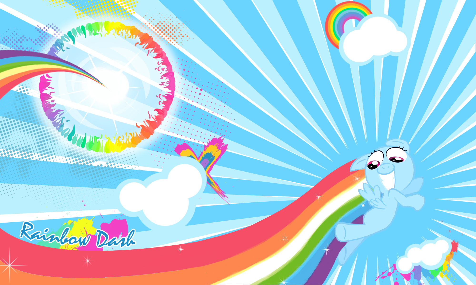Rainbow Dash Filly Sonic Rainboom | www.pixshark.com ...