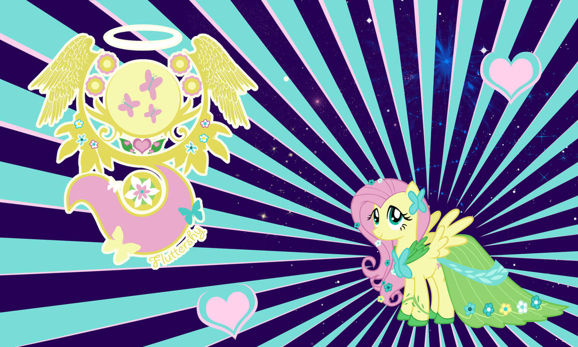 Fluttershy Gala Wall by Evilarticfox