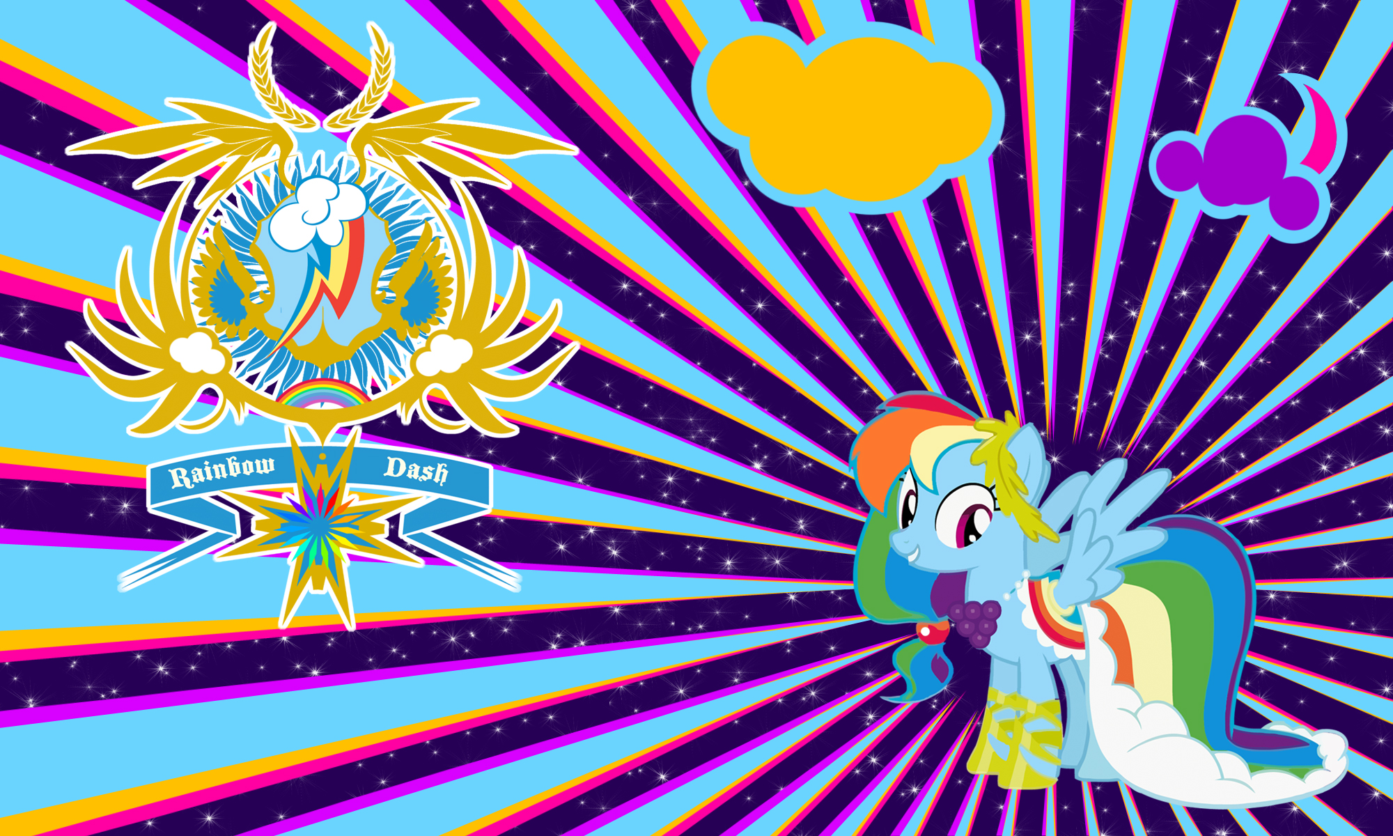 Rainbow Dash Gala Wall