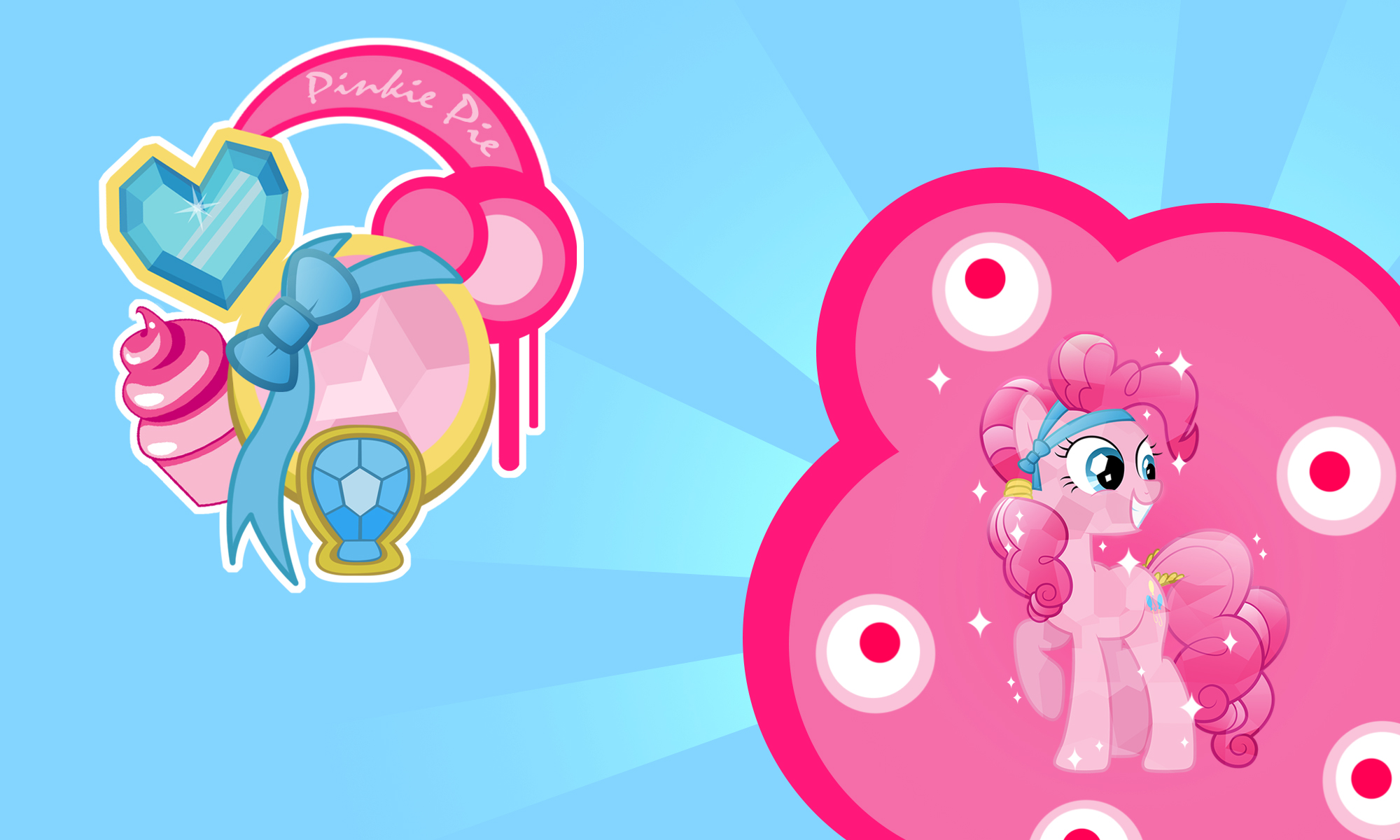 Pinkie Pie Crystal Wall