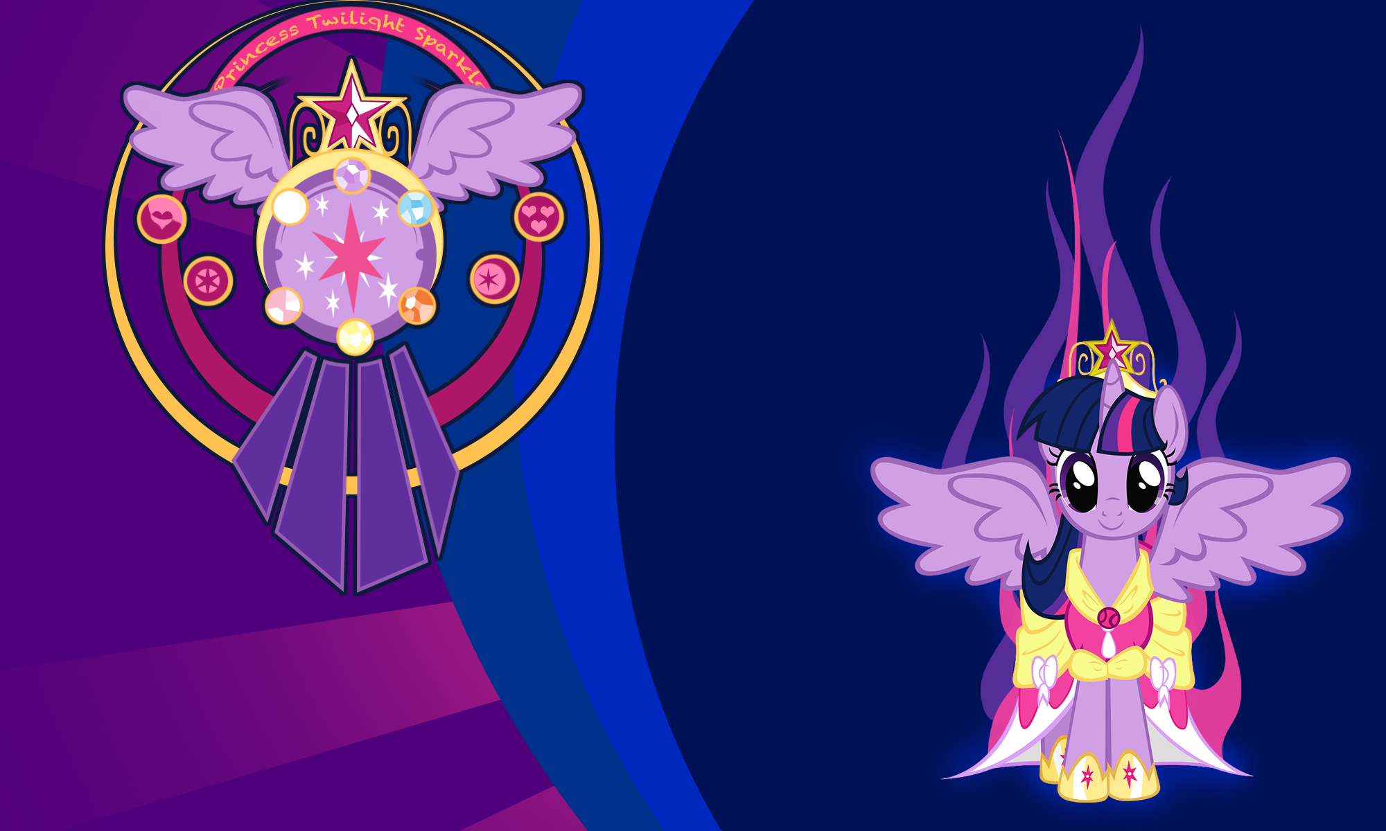 Princess Twilight Sparkle Wall by Evilarticfox