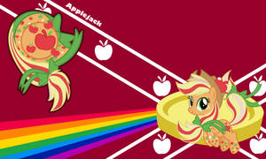 Applejack Rainbow Wall