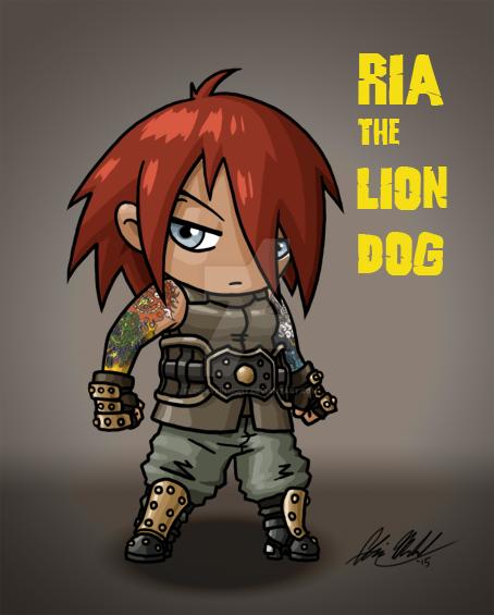 Ria the Lion Dog Chibi by blindeyeinsight