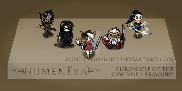 [Numenera] The PCs by blindeyeinsight