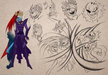 Horrortale: Undyne VS Sans by fishchin89