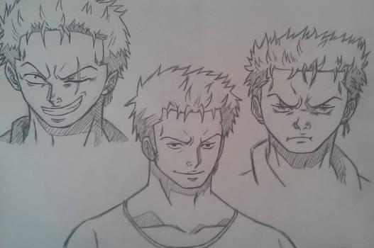 Buncha Roronoa Zoros (Sketch)