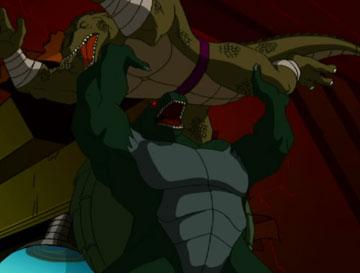 Monster Don VS Leatherhead by Mew2fem